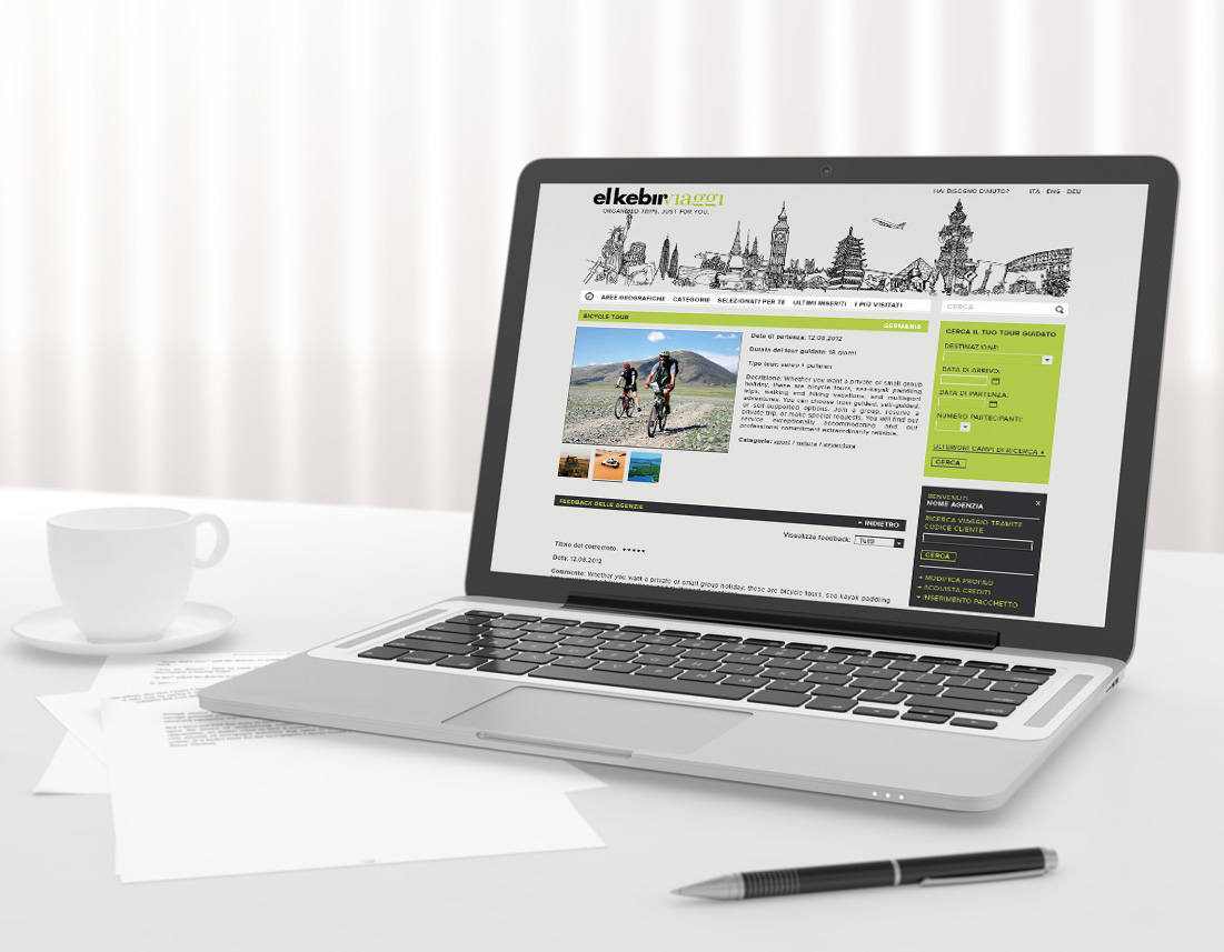 Sito internet ecommerce El Kebir Viaggi