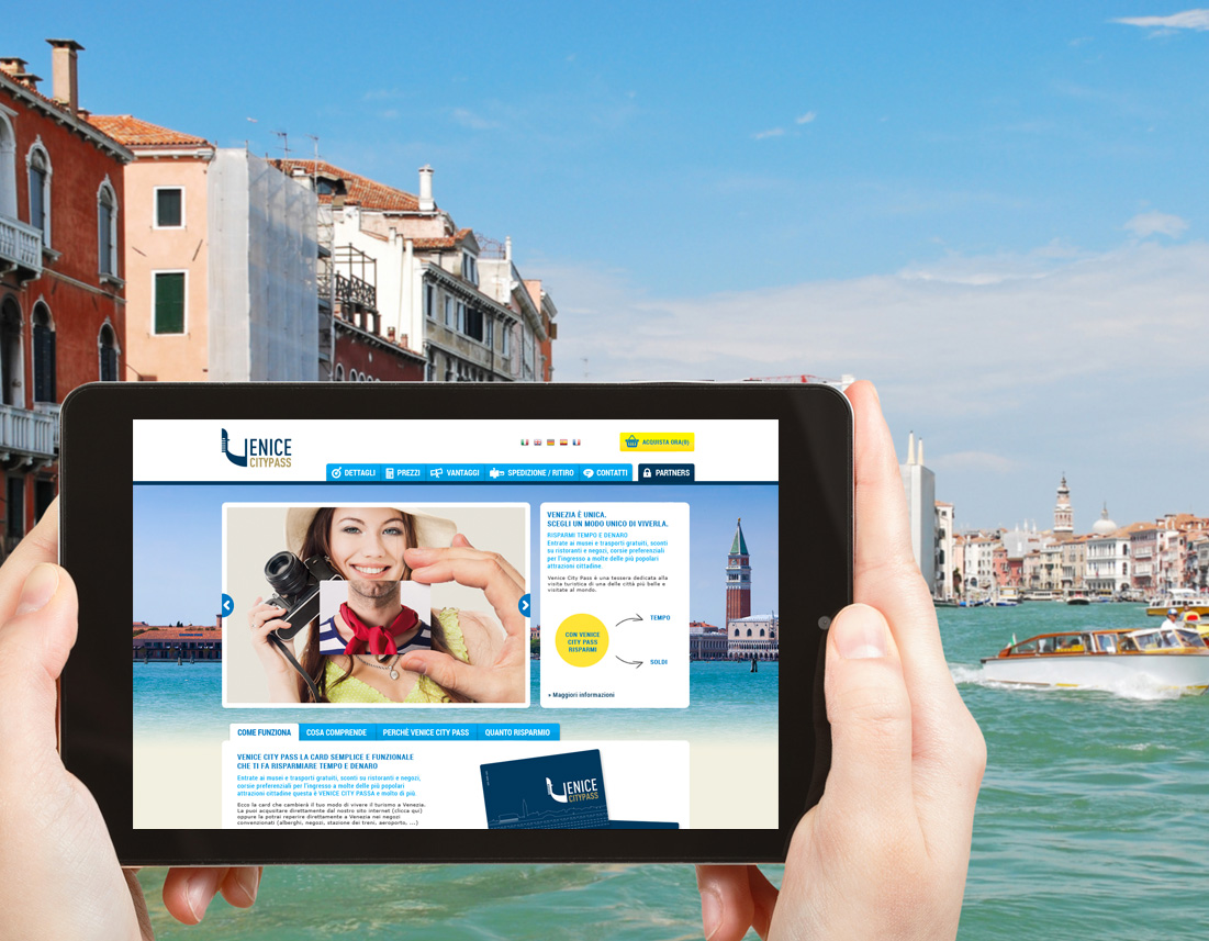 Sito internet ecommerce Venice City Pass
