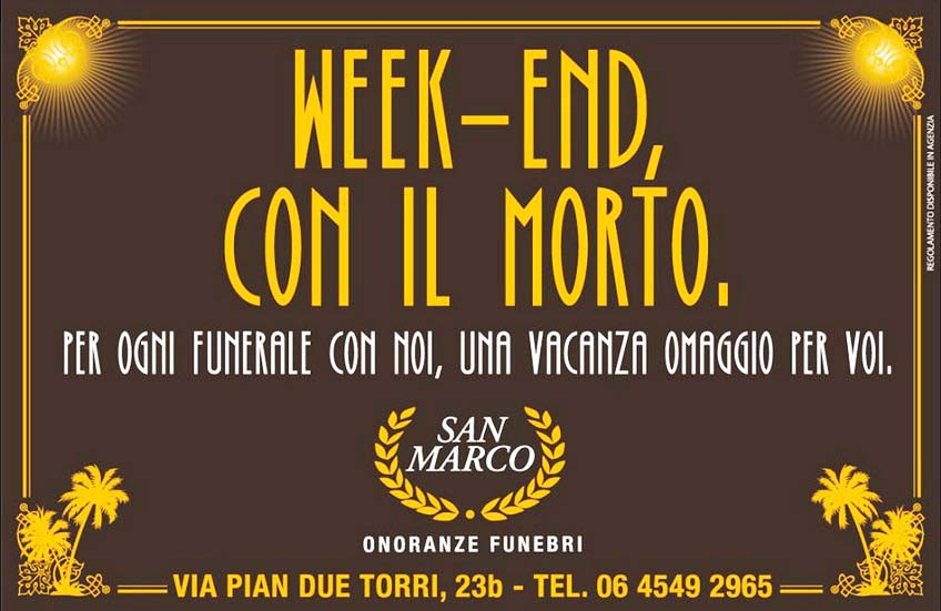 Adv weekend con il morto