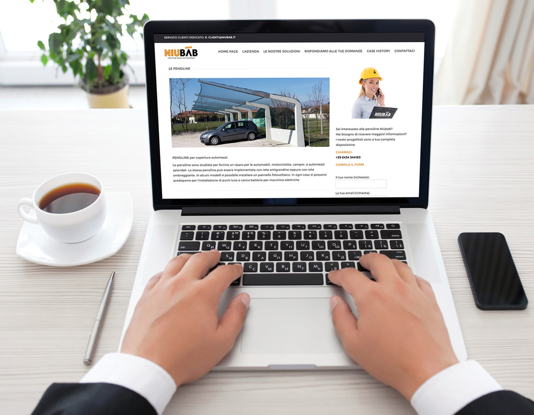 Niubab web design cristian della vedova for Piani del sito online