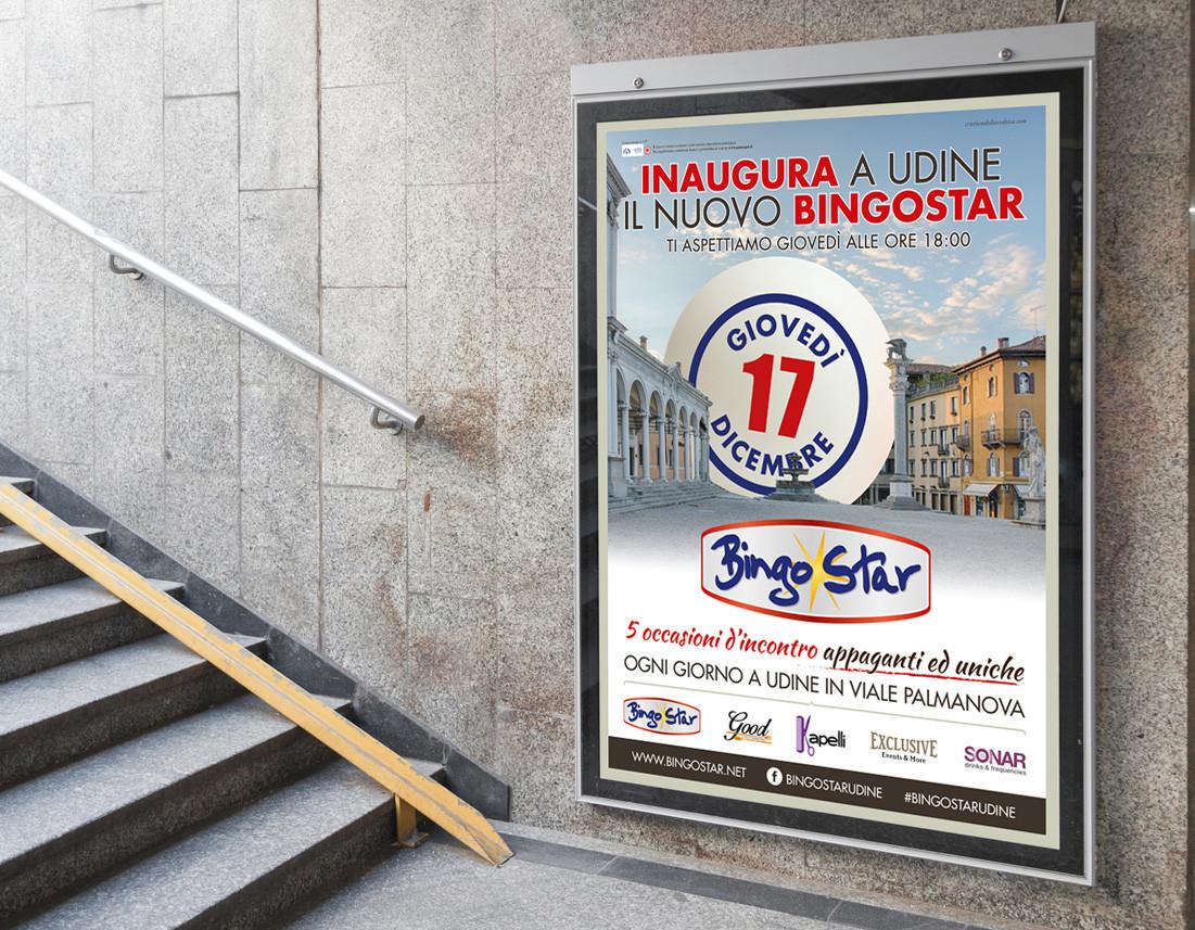 Campagna pubblicitaria Inaugurazione BingoStar Udine