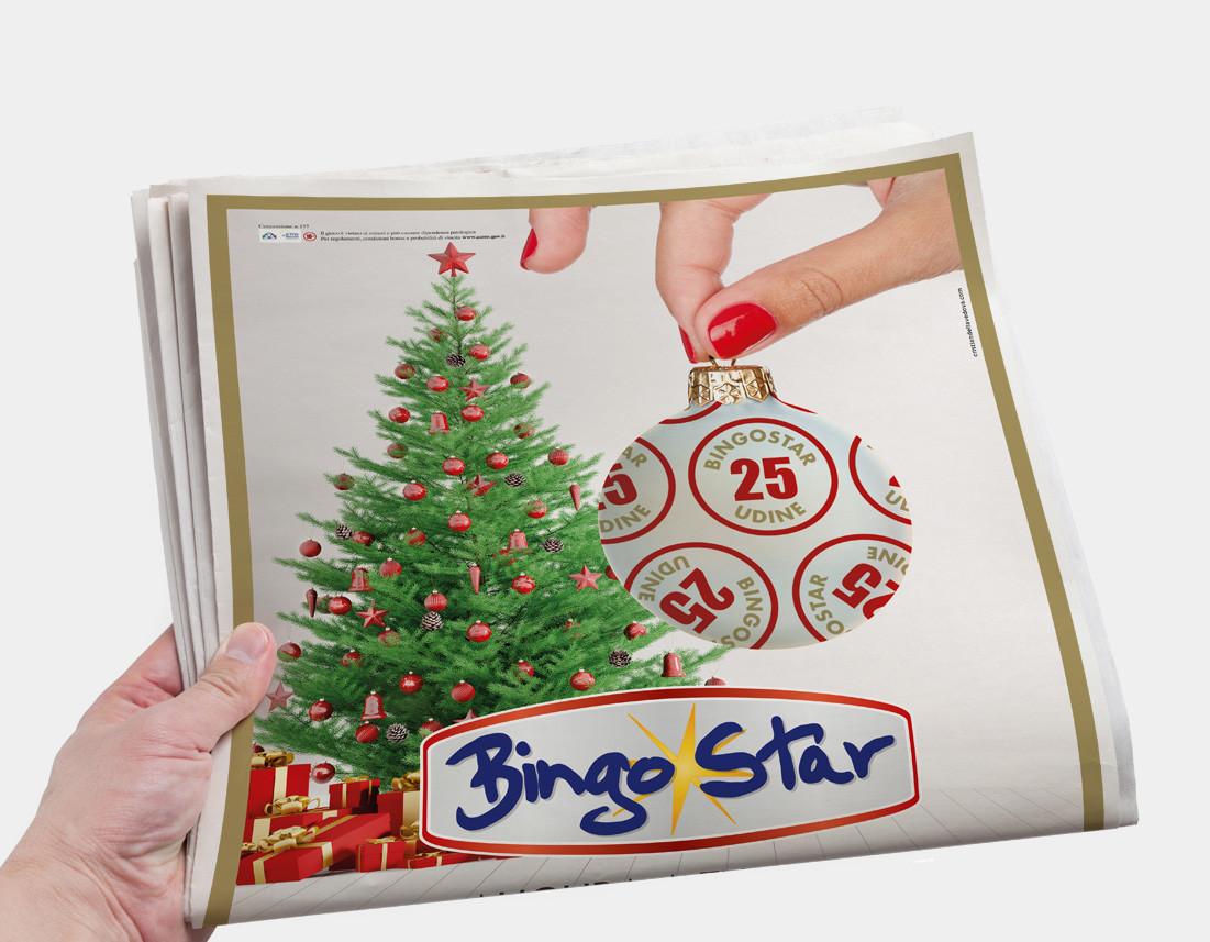 Campagna pubblicitaria Buone Feste BingoStar Udine