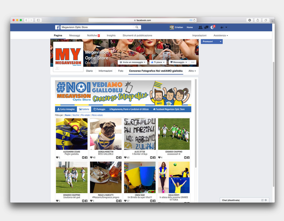 contest fotografico Facebook megavision