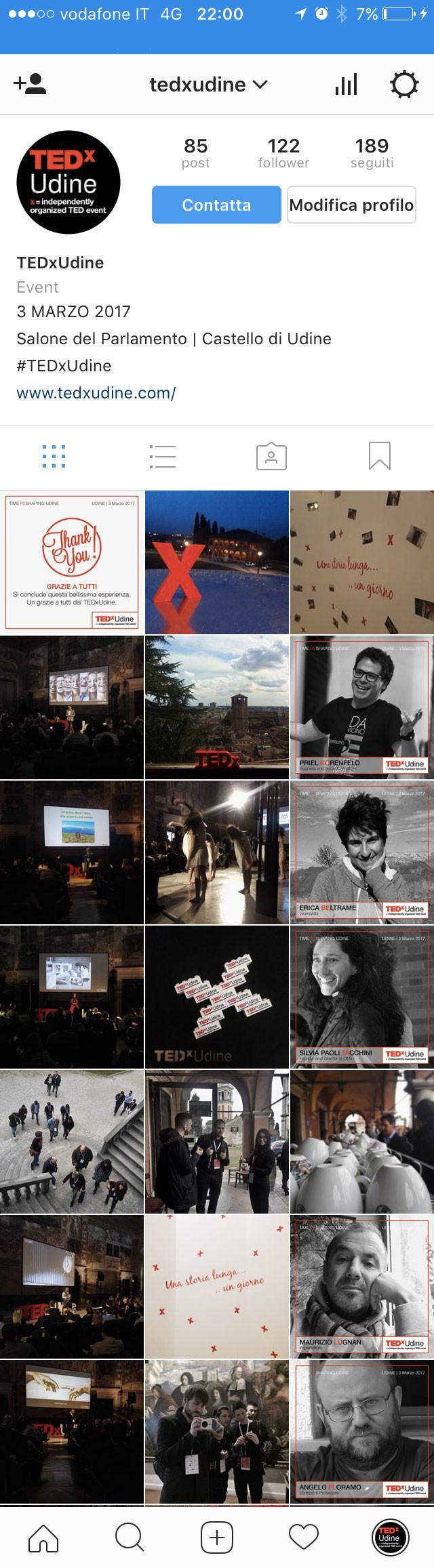 instagram TEDxUdine