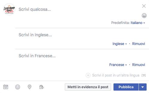traduzioni in facebook