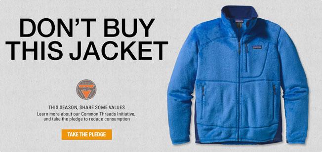 Don't buy this jacket Patagonia