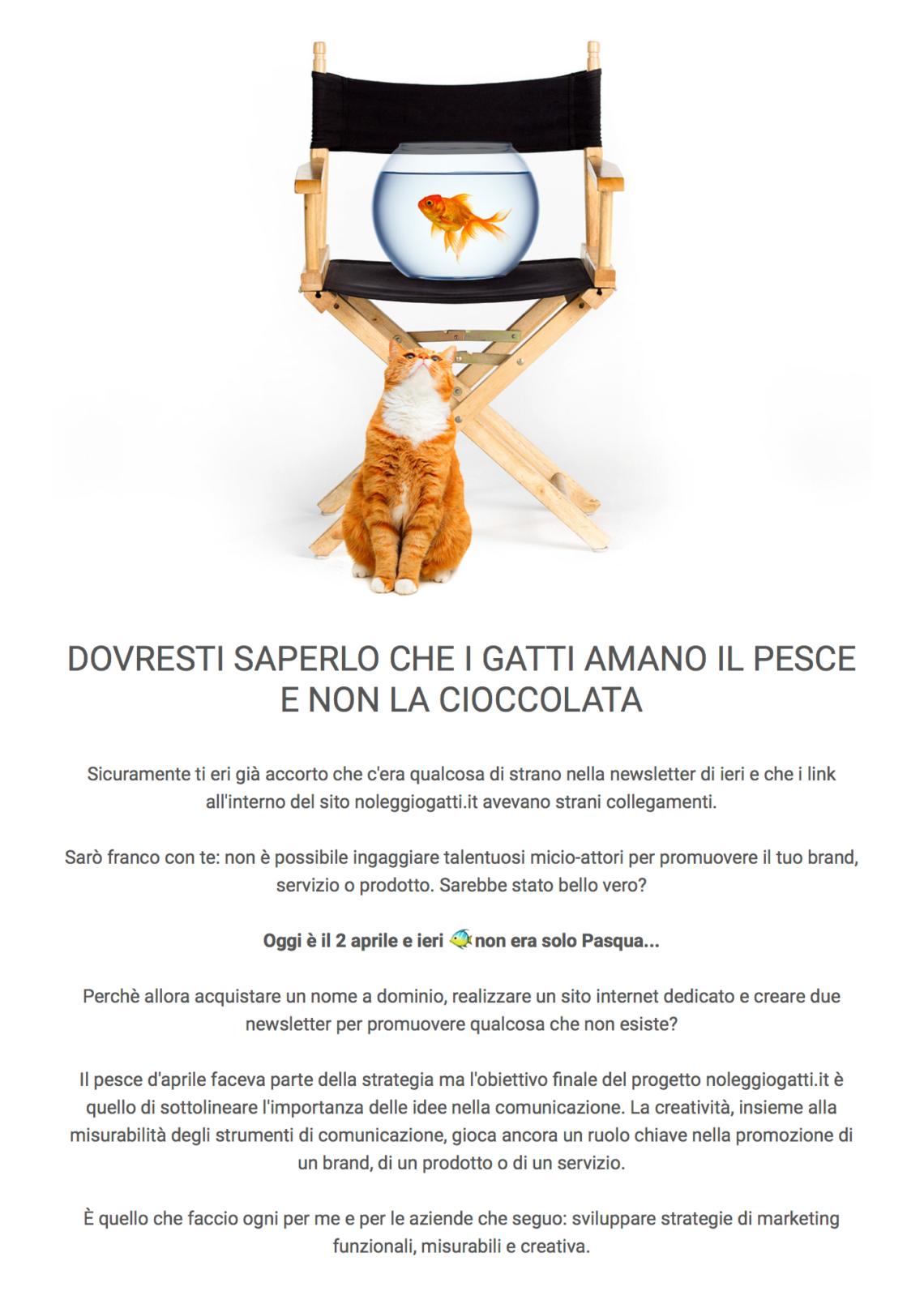 pesce aprile marketing